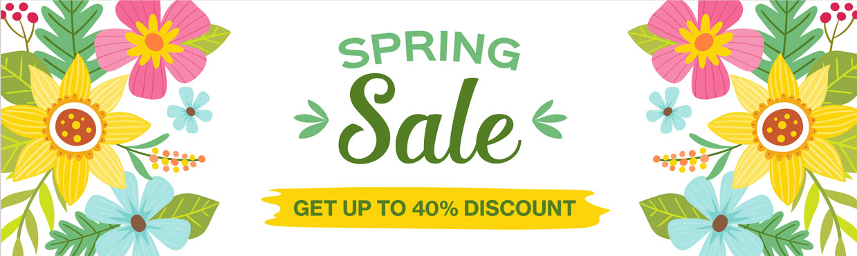 Spring Clearance Sale - Up to 40% discount