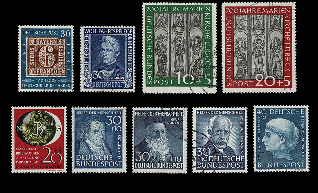 Stamp collection Bundespost 1949 - 1986