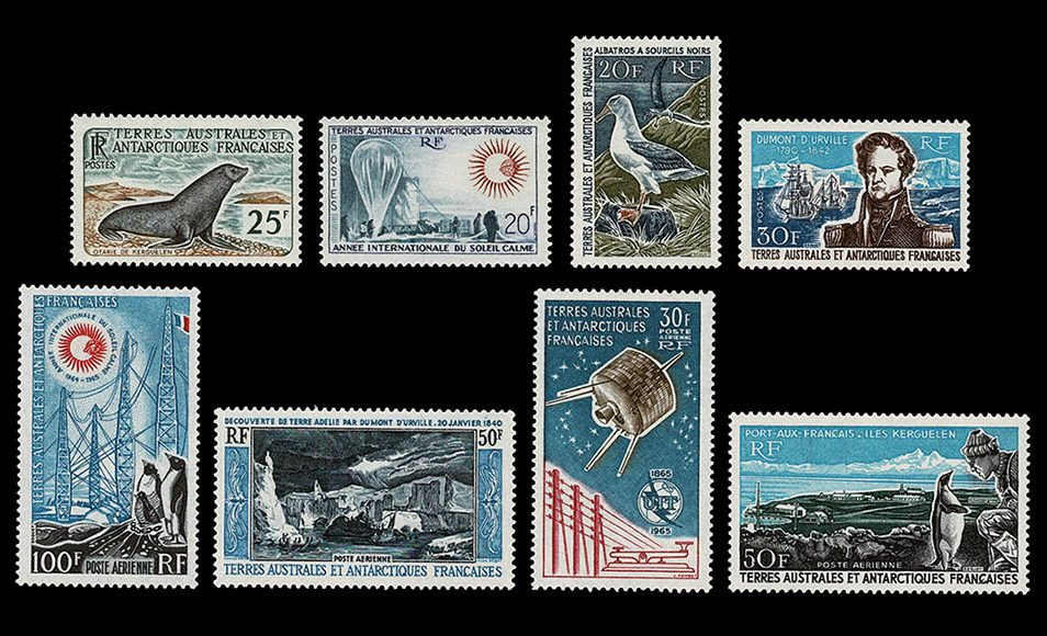Stamp collection French Antarctics 1948-2004!