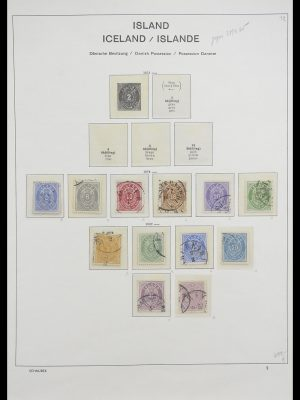 Stamp collection 33237 Iceland 1876-1996.