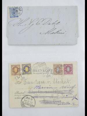 Stamp collection 33241 Scandinavia covers 1860-1930.