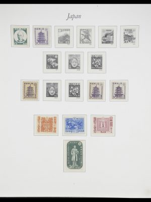 Stamp collection 33321 Japan 1946-1968.