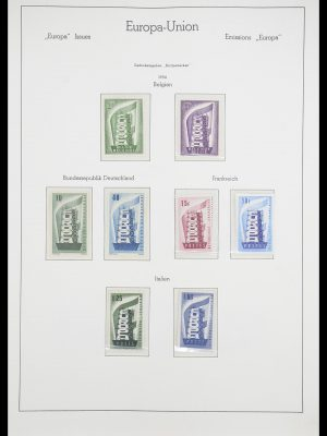 Stamp collection 33339 Europa CEPT 1956-1990.