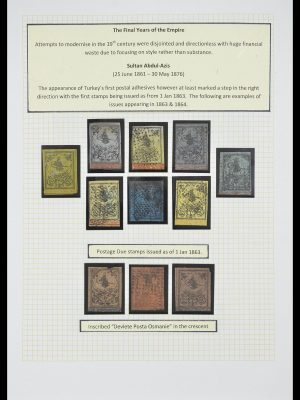 Stamp collection 33398 Turkey and territories 1863-1958.