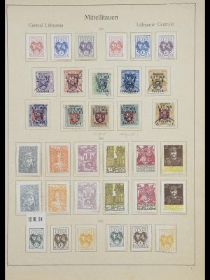 Stamp collection 33440 Central Lithuania 1920-1921.