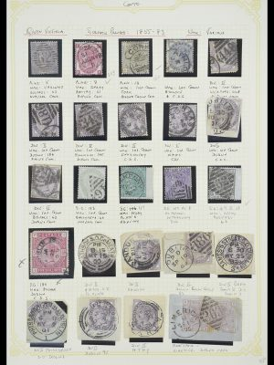 Stamp collection 33448 Great Britain used in Ireland 1855-19110.