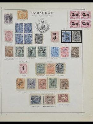 Stamp collection 33505 Paraguay 1870-1901.