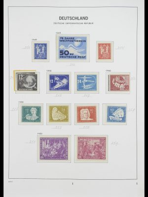 Stamp collection 33526 DDR 1949-1980.