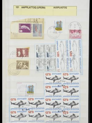 Stamp collection 33554 Greenland cancels 1938-2000.