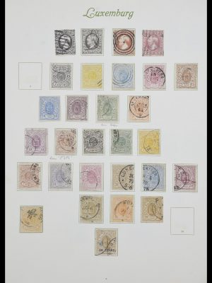 Stamp collection 33609 Luxembourg 1852-1968.