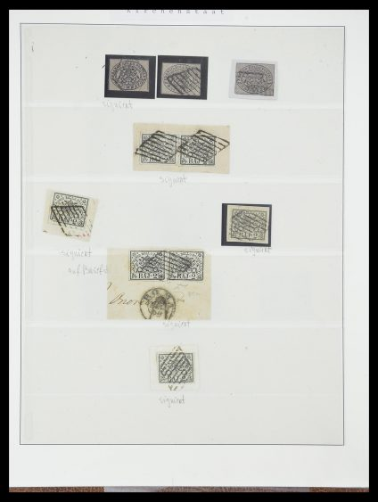 Stamp collection 33621 Italian States supercollection 1851-1868.