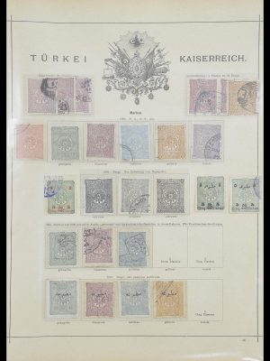 Stamp collection 33627 Turkey fiscaal 1864-1921.