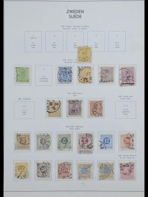 Stamp collection 33629 Sweden 1858-1957.