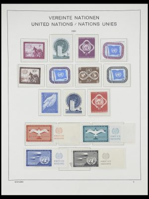Stamp collection 33637 United Nations 1951-2005.