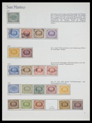 Stamp collection 33701 San Marino 1877-1962.