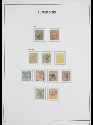 Stamp collection 33703 Luxembourg 1852-1991.