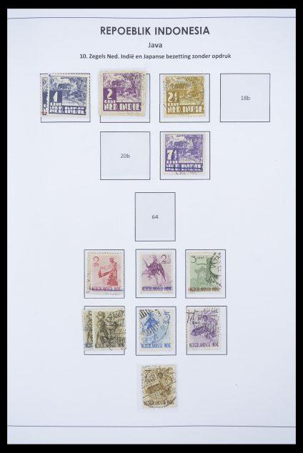 Stamp collection 33715 Dutch east Indies interim 1945-1948.