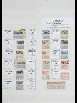 Stamp collection 33718 Dutch east Indies cancels.