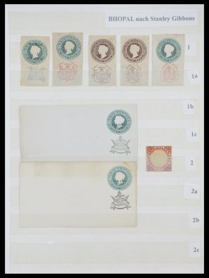 Stamp collection 33723 India States 1870-1949.