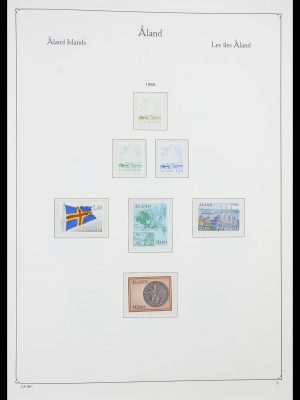 Stamp collection 33783 Aland 1984-2001.