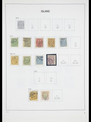 Stamp collection 33785 Iceland 1876-1990.