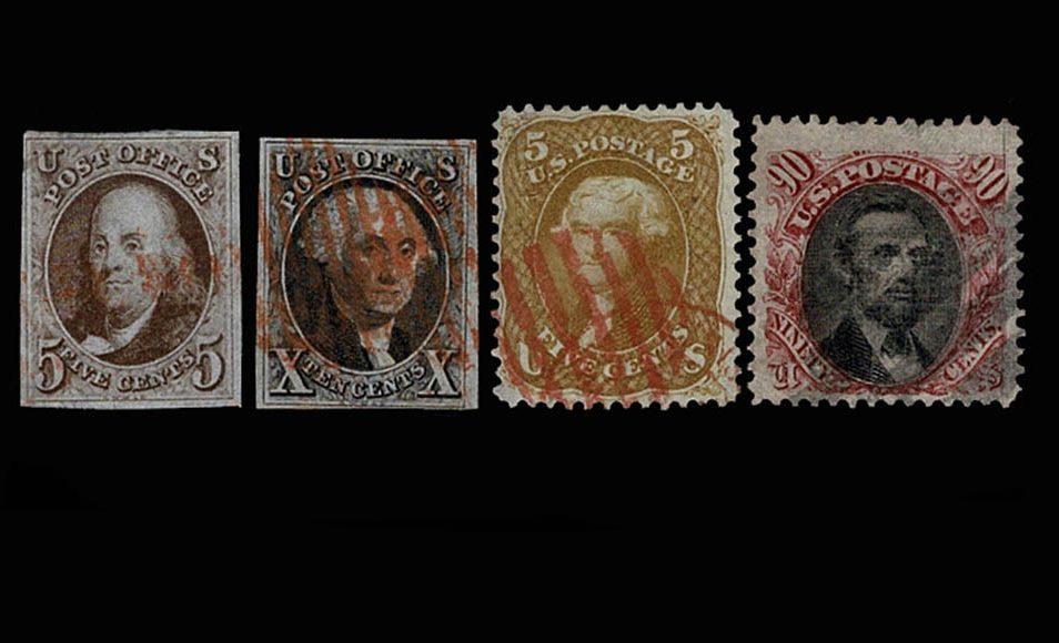 Stamp collection USA 1947-1952