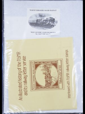 Stamp collection 33755 Thematics trains 1900-2010.