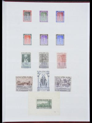 Stamp collection 33816 Luxembourg 1852-1938.