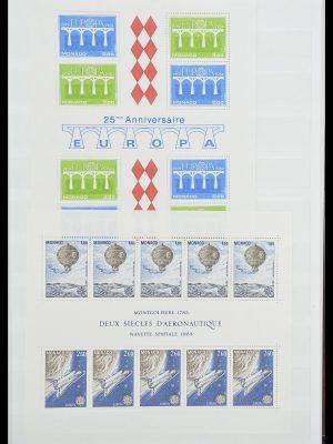 Stamp collection 33833 Monaco souvenir sheets 1979-2015.