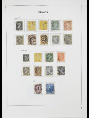 Stamp collection 33866 Canada 1859-1974.