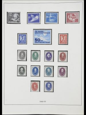 Stamp collection 33868 DDR 1949-1977.