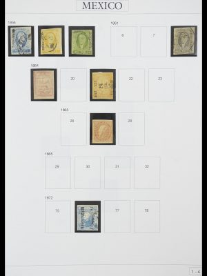 Stamp collection 33922 Mexico 1856-1980.