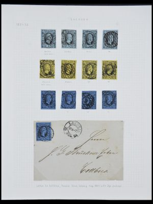 Stamp collection 33966 Saxony 1851-1863.
