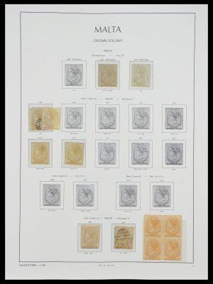 Stamp collection 33968 Malta 1861-2001.