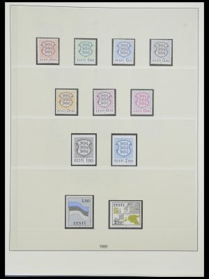 Stamp collection 33983 Baltic States 1990-2012.