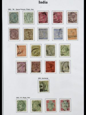 Stamp collection 34010 India and States 1854-2018!
