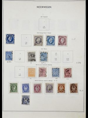 Stamp collection 34031 Norway 1856-1948.