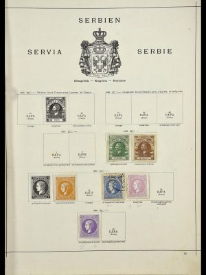 Stamp collection 34033 Serbia 1868-1945.