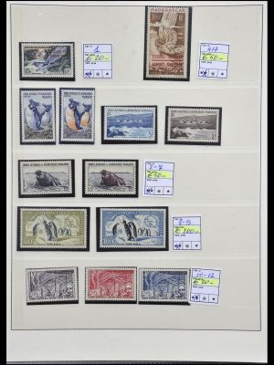 Stamp collection 34035 French Antarctics 1955-1992.