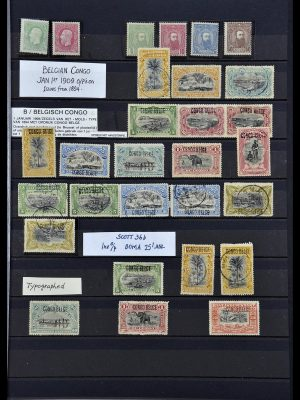 Stamp collection 34067 Belgian Congo 1885-1935.