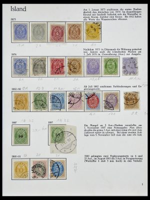 Stamp collection 34070 Iceland 1873-1980.