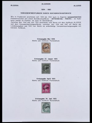 Stamp collection 34076 Algeria precancels 1924-1963.