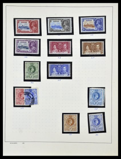 Stamp collection 34097 Swaziland and Lesotho 1935-1989.