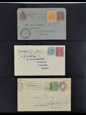 Stamp collection 34112 Australia mixed frankings 1915-1952!