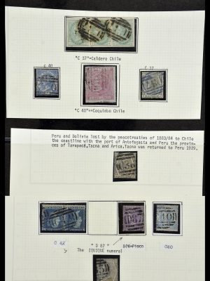 Stamp collection 34125 Great Britain used in Chile 1858-1878.