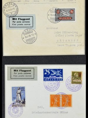 Featured image of Stamp Collection 34141 Switzerland airmail covers 1920-1960.
