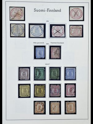 Stamp collection 34151 Finland 1856-1980.