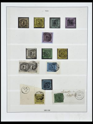 Stamp collection 34158 Old German States 1850-1870.