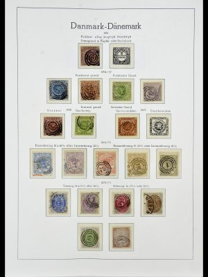Stamp collection 34165 Denmark 1851-2004.