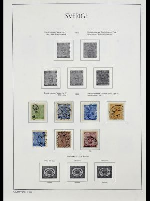 Stamp collection 34186 Sweden 1858-1989.